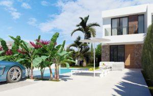 Seaview, 3 soveroms villa i rekke med sjøutsikt i Finestrat