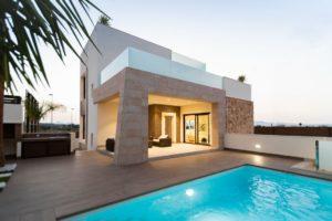 Residencial Azahar, 2 soveroms villa med privat svømmebasseng i Benijofar, Costa Blanca Sør