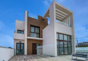 Laguna Beach Villas, 3 soveroms luksusvilla med privat basseng og takterrasse i vakre Los Balcones - Torrevieja