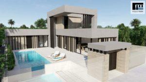 Villa Park, 3 soveroms villa med takterrasse, svømmebasseng og jazzuci i Benijofar, Costa Blanca Sør