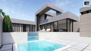 Villa Park, 5 soveroms villa med takterrasse, kjeller, svømmebasseng og jazzuci i Benijofar, Costa Blanca Sør