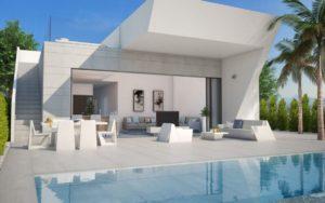 Oceanic B, 3+ soveroms villa med takterrasse og evighetsbasseng i flott område ved Rojales, Costa Blanca Sør