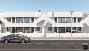 Villamar II, 2 soveroms bungalow i San Pedro del Pinatar ved Mar Menor, Costa Calida
