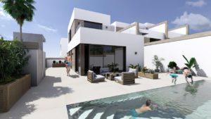 La Alameda Fase II, 3 soveroms Villa med kjeller og basseng i Benijofar