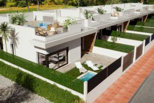 El Palmeral de Roda Golf, 2 soveroms rekkehus med privat basseng og nær golfbanen i Roda