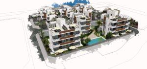 Residencial Barnuevo, 3 soveroms leiligheter rett ved Santiago de la Ribera-stranden