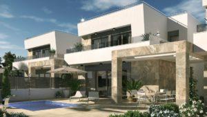 Villa Galán, 3+ soveroms villa nær golfbaner i Villamartin, San Miguel de Salinas