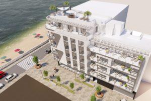 Arena Beach II, 2 soveroms leilighet i praktbygg på strandpromenaden i Torrevieja