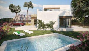 Villa Gante, 3 soveroms villa med eget basseng i Balcón de Finestrat